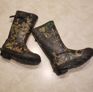 Rocky Insulated Rubber Boots Youth 13 Camo
